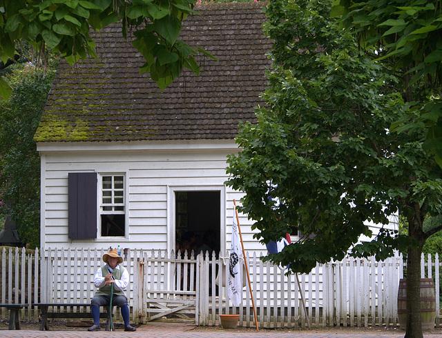 Basket Maker at Colonial Williamsburg
