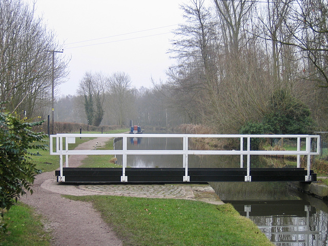 Swing Bridge over the Coventry Canal at Fradley Junction