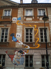 Mural of Marie Curie Museum.