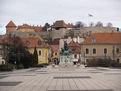 István Dobó Monument and the Castle