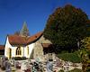 Reformierte Kirche mit Friedhof in Orny