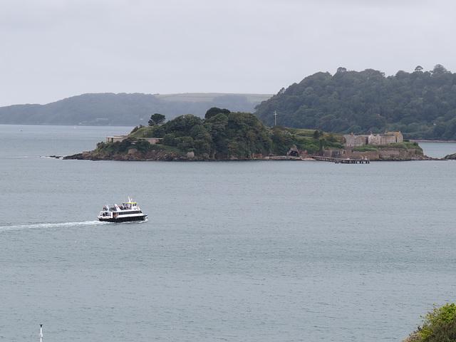 drake's island, plymouth, devon