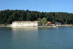 Albania, St. Mary's Monastery on the Island of Zvërnec
