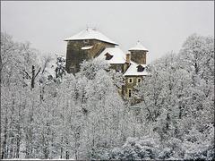 Villemoirieu (38) 31 janvier 2012. La maison forte de Montiracle.