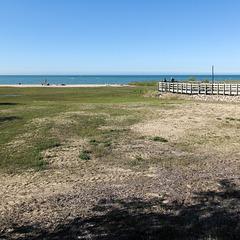 Good view of Lake Huron.