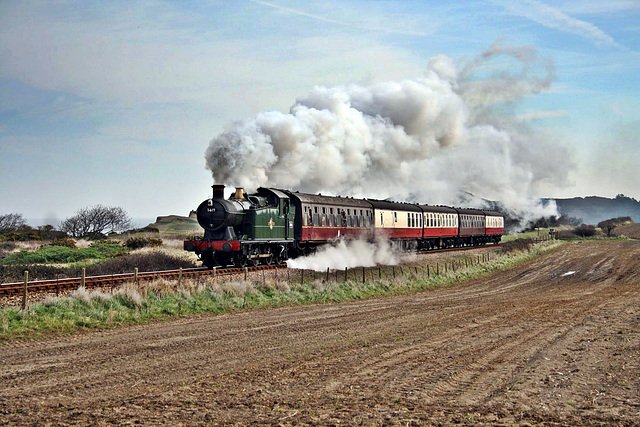 GWR 5600 Class no 5619 heads away from Sheringham  ~ North Norfolk Railway