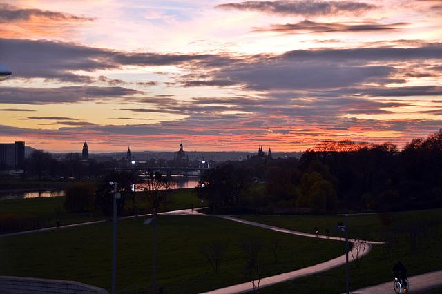 Dresden an einem Novemberabend
