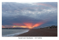 Sunset over Newhaven - 13.7.2016