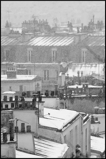 Toits de Paris sous la neige (IV)
