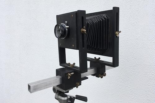 4x5 Plattenkamera aus Holz -- kamera 0140
