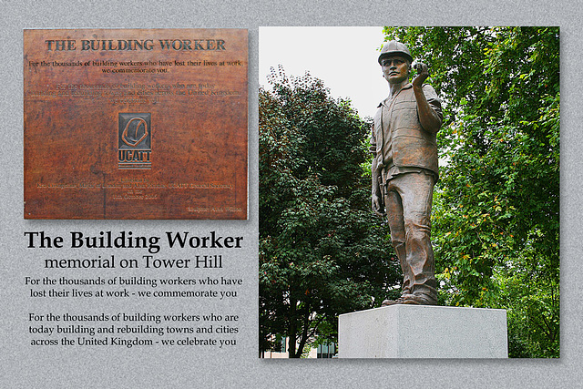 Building Workers' memorial - Tower Hill - London - 23.8.2008