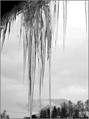 Vorhang mit fallenden Tropfen