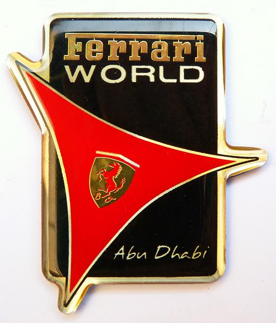 Il logo del circuito di Abu Dhabi dedicato alla Ferrari Mondiale - (454)
