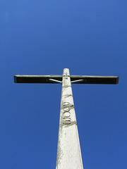 Gipfelkreuz und Himmel