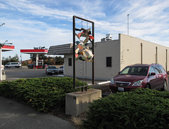 Gas station public art.
