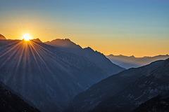 Sunset Over Zillertal Alps