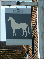 boring White Horse pub sign