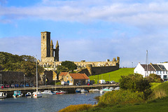 St Andrews Harbour and the Cathedral of St Andrew