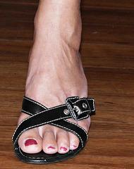 wife in in callisto heels close up