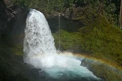 Sahalie Falls and Rainbow