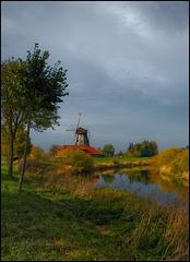 Bothmer Mühle mit Herbstdeko
