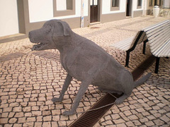 Sculpture of dog.