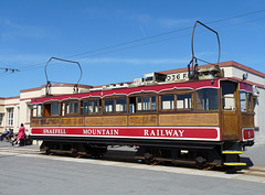 Snaefell Mountain Railway Tram at the Summit Terminus