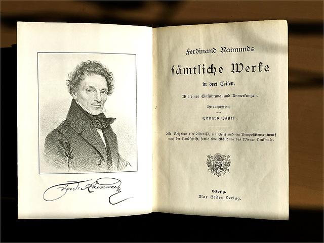 Ferdinand Raimunds sämtliche Werke