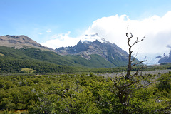 Argentina, Valley of Fitz Roy River and Cerro Solo (2121m)