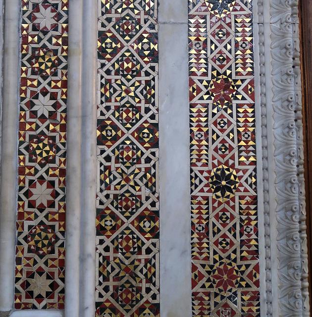 Mosaic panels around a doorway