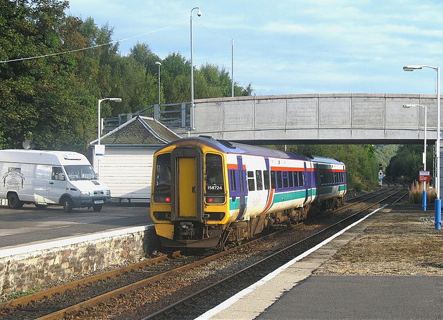 158724 leaves Dingwall for Kyle