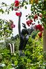 Skulptur im Rosengarten