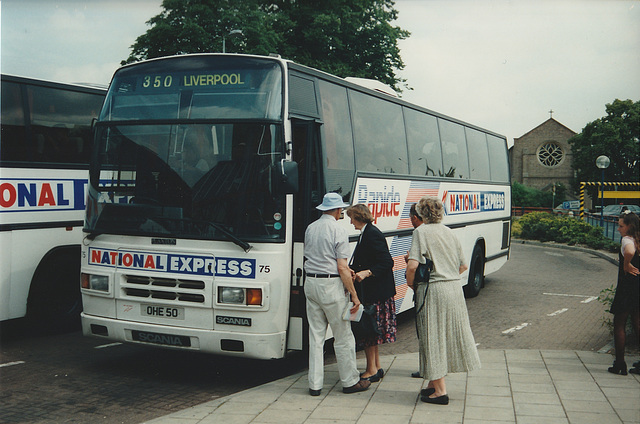 Yorkshire Traction OHE 50 (J964 YWJ) at Newmarket - 8 July 1995