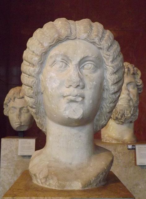 Portrait of the Empress Julia Domna in the Louvre, June 2013