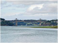 Vue sur la rance et les ponts depuis Mordeuc (22) avec note