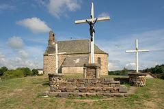 La chapelle et le calvaire de la Barge d'Alleuze