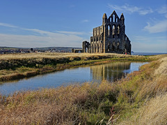 Whitby Abbey Church and pond