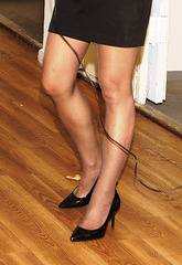 hose, legs and heels