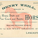 Henry Weill, Dealer in Horses, Lancaster, Pa.