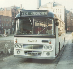 Western SMT YSD 348L in Manchester - Aug 1973