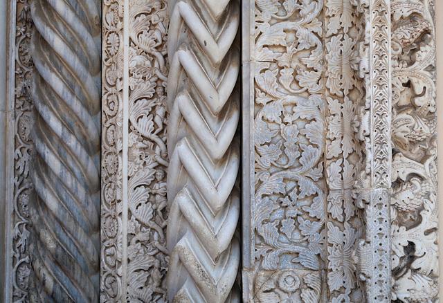 Intricately-carved marble doorway