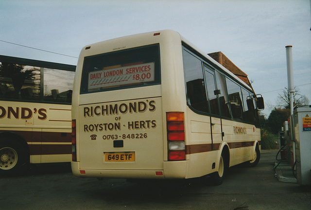 Richmond's of Barley 649 ETF - 15 Feb 1998