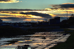 Sunset On The Banks Of The Tyne