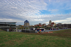 Bus Depot with Skyline
