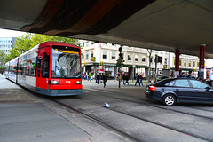 Bremen 2015 – Plastic bag about to be crushed by a tram