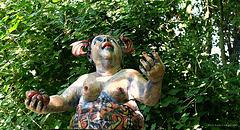 art exibition in the nature (Ahrenshoop - Baltic Sea)