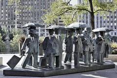 """""""Gentlemen"""" Statues – AMA Plaza, 330 North Wabash Avenue, Chicago, Illinois, United States"""