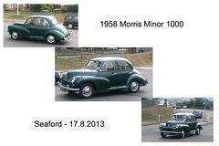 1958 Morris Minor 1000 Seaford 17 8 2013