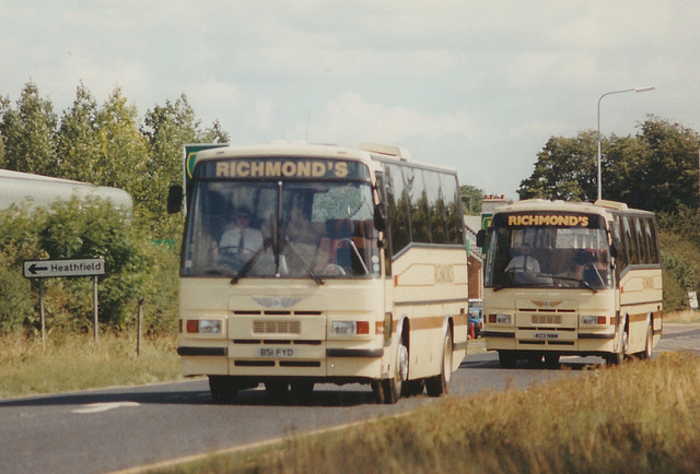 Richmond's 851 FYD (C219 FMF) and 403 NMM (D867 YPH) near Duxford Airfield - 26 May 1996
