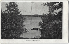 KN0394 KENORA - SUMMER ON THE RIVER